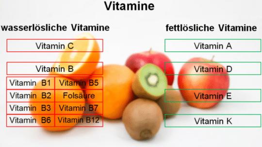 Fettlösliche Vitamine: Die Vitamine A, D, E und K schützen den Körper